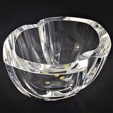 Kosta Boda Crystal Bowl Signed Klas-Goran Tinback Art Glass Sweden Numbered