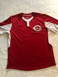 Majestic Cincinnati Reds Mens XL Cool Base Jersey No Name Or Number Great Cond.