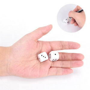 10pcs 16mm blank white can write dice counting cubes DIY rounded gaming dice&qi