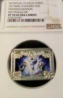 2013 ANDORRA SILVER 5 DINERS S5D WONDERS OF JESUS CHRIST NGC PF 70 ULTRA CAMEO