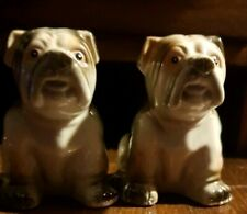 🎈Antique Bulldog Salt and Pepper shakers