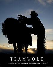 Horse Motivational Poster Art Western Decor Cowboy Rodeo Saddle Spurs MVP51