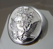 US Navy Licensed Official Navy Seal .925 sterling silver ring size 10 solid