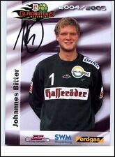 2005 Autogramm Autogrammkarte Handsigniert JOHANNES BITTER Gladiators Magdeburg