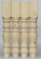 "Set of 4 Chunky Pine Farmhouse Table Legs 115*115*736mm (29"")  Tables solid A5FH"
