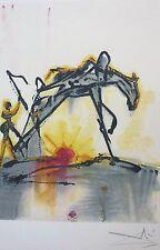 "SALVADOR DALI The Dalinean Horses ""LE CHEVAL DE LABEUR""  limited edition SIGNED"