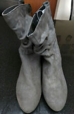Womens Atmosphere Grey Charcoal Ruched Boots Size 8