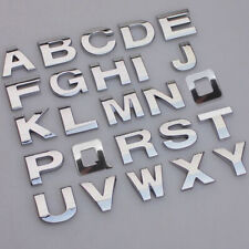 0~9 A~Z Alphabet Letters Auto Car Sticker Self Adhesive Badge Emblem 3D Chrome