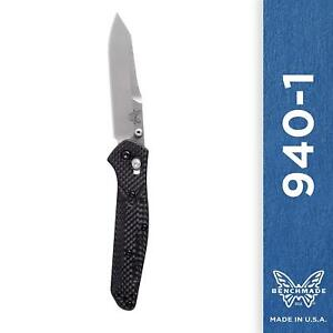 Benchmade 940-1 Knife, Plain Edge Reverse Tanto, Carbon Fiber Handle