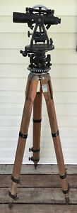 VINTAGE SURVEYORS TRANSIT, PEABODY COAL CO.  with case and tools
