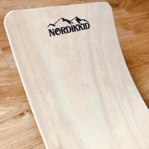 Balance board wobble Montessori wooden rocking kids board UK made curved waldorf