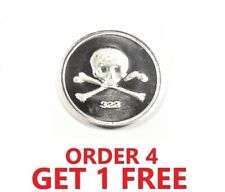1 Gram .999 Fine Silver Round - Skull and Bones