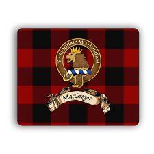 MacGregor Scottish Clan Rob Roy Tartan Crest Gaelic Motto Computer Mouse Mat
