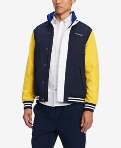 Tommy Hilfiger Men's Blue/Lemon Coastal Yacht Full Zip Jacket