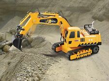 Remote Control Digger J-Matic 4+3 Channel Sound Lights 2.4 GHz 1:27 Yellow