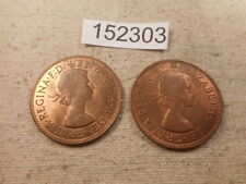 1967 Great Britain One Penny Two Coins Collector Grade Album Coin - # 152303