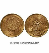 Pièces de monnaie du Mexique en or