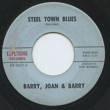 Hear - Rare Folk/Psych 45 - Barry, Joan & Barry - Steel Town Blues - Explosive