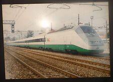 railways poster FS ETR 500 train  - vera foto su pannello alluminio 69x49