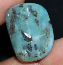43.65 Ct Natural Blue Larimar Pectolite Polished AGSL Certified Untreated Tumble