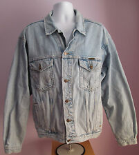 VTG 90s Mens WRANGLER Blue Denim Jacket Size Extra Large   (C14)
