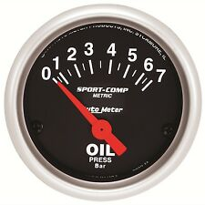 AutoMeter 0-7 BAR Sport-Comp Analog Oil Pressure Gauge * 3327-M *