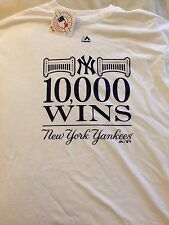 NY YANKEES STADIUM BASEBALL 10000 WINS T SHIRT SIZE XL MAJESTIC MLB HISTORY 2015