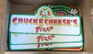 """Chuck E Cheese's Pizza - 10""""x23"""" Sign (plastic)"""