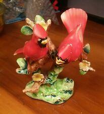 Vintage Orion Porcelain Figurine of Cardinal Birds made in Japan