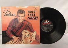 "1959 FABIAN Hold That Tiger 12"" Vinyl LP Record Chancellor VG+ Original Cover"