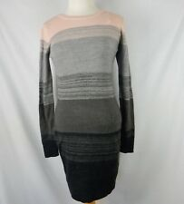 1a386bcca71 BCX Womens Sweater Tunic Dress Stripe Pink Grey Size Large