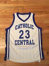 Detroit Catholic Central Hs Shamrocks Vintage Wilson Game Worn Basketball Jersey
