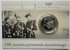 2013 Poland Polen 10 zl zlotych Silver 925 150th ann The January Uprising