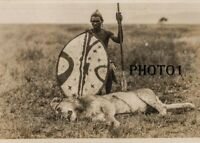 Photographie photo Afrique AFRICA  HIMBA NAMIBIE  TRIBU ZOULOU  CHASSE LION