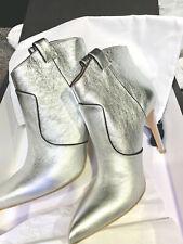 Veronica Beard Silver boot heels 39.5  9 US Brand New. So classy. So hip.