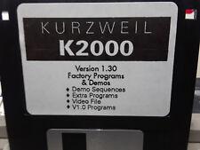 KURZWEIL ~ K2000 ~ Version 1.30 + Version 1.00 of Factory Floppy Disk Programs!