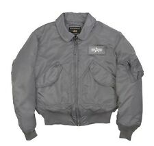 ALPHA INDUSTRIES CWU 45/P AIR FORCE MILITARY FLIGHT JACKET GRAY BLACK NAVY SAGE