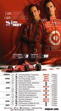 Dan Wheldon & Helio Castro Neves IndyCar Series 2008 Schedule POSTER-VERY RARE