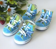 USA Seller Dog Puppy Fashion SET of 4 Shoes Boots Sneakers BLUE size #1 - #5