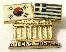 Pin Spilla Olimpiadi Athens 2004 Greece/South Korea Flags