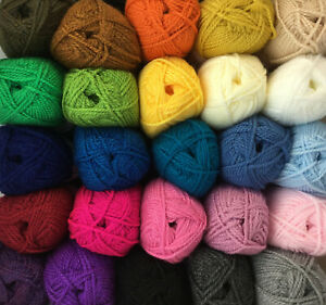King Cole Big Value Chunky Yarn Wool Knitting 100% Premium Acrylic 100g