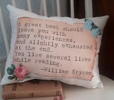 Vintage Inspired Book Lover's Pillow, Handmade, Christmas Gift, Book Lover Gift