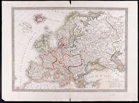 1841 - Landkarte Antik Landkarte Allgemeine Europa / Monin / Antik Map