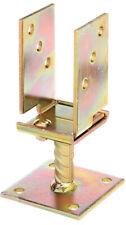 GAH U-Pfostenträger verstellbar 71-131 mm zum Aufschrauben