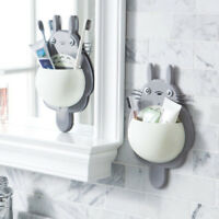 Cartoon Totoro Toothbrush Holder Wall Mount Sucker Bathroom Suction Cup For Kid