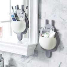 Cartoon Totoro Toothbrush Holder Wall Mount Sucker Bathroom Suction Cup For Kid