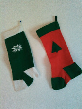 Set of 2 handmade knit Christmas stockings
