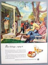US Brewer's Foundation 1949 Home Life Austin Briggs WEEK END IN THE COUNTRY