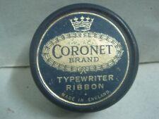 Antique tin box typewriter ribbon Coronet Brand