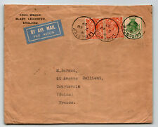 Great Britain 1929 Airmail Cover Leicester to France - Z13773